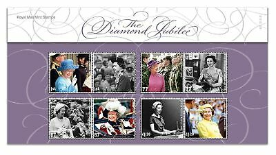 The Royal Mint Diamond  Jubilee stamps presentation pack Mint