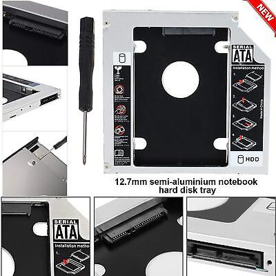 SATA 2nd HDD SSD Hard Drive Caddy Case For 9.5mm Universal Laptop CD / DVD-ROM