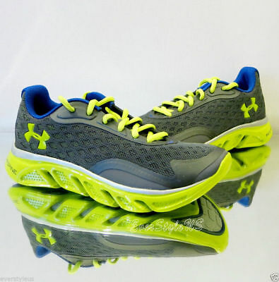 e15192075fbeb UNDER ARMOUR Youth BGS Spine RPM Storm Running Shoes Graphite/Yellow sz 4Y