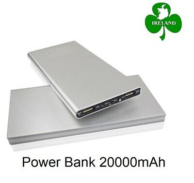 20000mAh Power Bank Charger 3 USB Ports Battery Charging iPhone Samsung Huawei