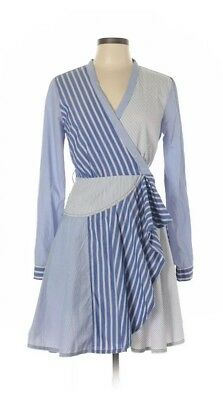 69c168b3209 ANTHROPOLOGIE MAEVE WRAPPED Stripe Column Dress Blue S Small NWT New ...