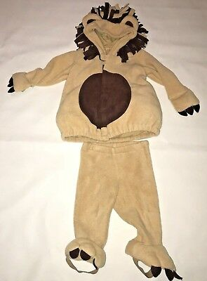 Old Navy Lion Halloween Costume Infant Baby Girl Boy Size 12 24 Months 2 Piece