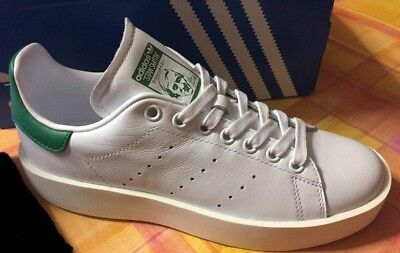 more photos b65bd d805a Adidas Stan Smith Bold W Scarpe Sportive Donna Bianche S32266 TG. 36 2 3