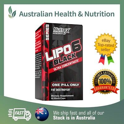 Nutrex Research Lipo 6 Black Ultra Concentrate + Free Post