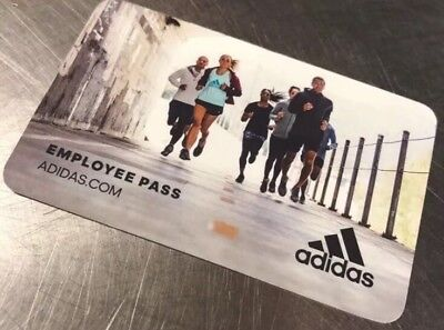 adidas 50% Employee Pass Use Until Feb 28 2019 Online for adidas.com Gift Card