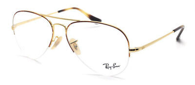 38a97be6525 New Authentic Ray Ban RB 6589 2945 Gold Havana Men s Eyeglasses 59-15-140