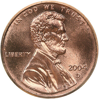 2004 D Lincoln Memorial Cent BU Penny US Coin