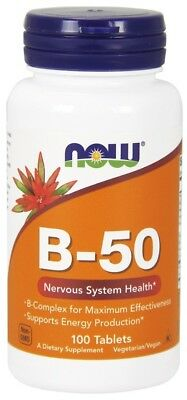 NOW Foods  Vitamin B-50     FREE P&P
