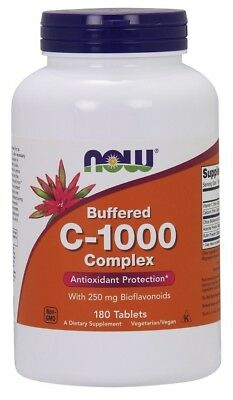 NOW Foods  Vitamin C-1000 Complex - Buffered with 250mg Bioflavonoids     FREE P