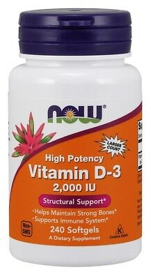 NOW Foods  Vitamin D-3, 2000 IU      FREE P&P