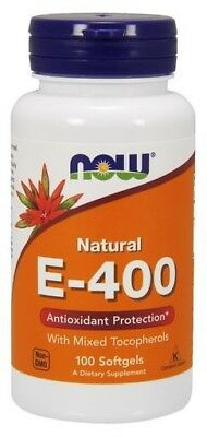 NOW Foods  Vitamin E-400 - Natural (Mixed Tocopherols)     FREE P&P