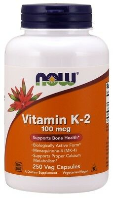 NOW Foods  Vitamin K-2, 100mcg      FREE P&P