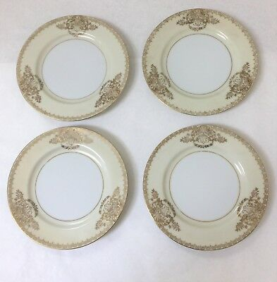 Jyoto China Made in Occupied Japan Ivory & Gold Dessert Bread Plates