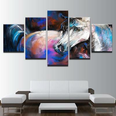 Watercolor Horse Canvas Art Print for Wall Decor Painting