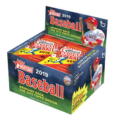 2019 Topps Heritage Baseball Factory Sealed 24 Pack Retail Box Pre-Order