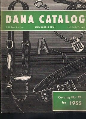 DANA CATALOG 1955 C.H.Dana Co. Hyde Park VT, Livestock Equipment & Supplies