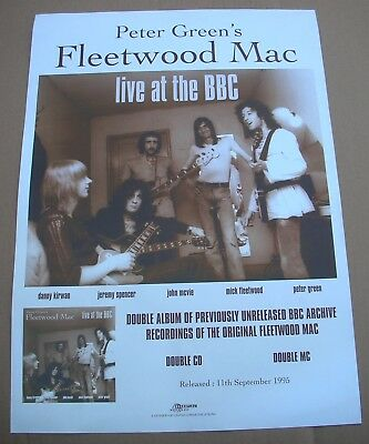 PETER GREEN'S Fleetwood Mac Live At The BBC Original Promo Poster Mint- 1995