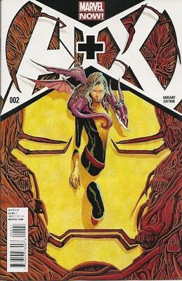 A+X #2 Avengers plus X-Men Marvel 2013 1:20 Mike Del Mundo Variant Cover NM AX