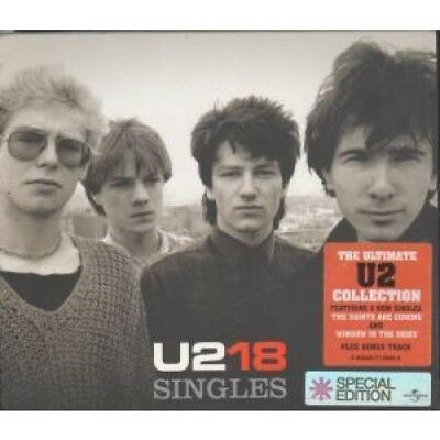 U2 18 Singles CD Europe Universal 2006 18 Track With Numbered Card Outer