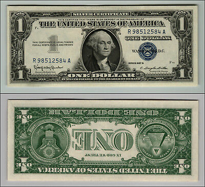 1957B  United States $1 Silver Certificate  Blue Seal Uncirculated  Z460