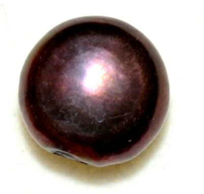 6.50 Ct Natural Red Black Tahitian South-Sea Pearl AGSL Certified Untreated Gem