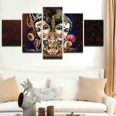 SHIVA PARVATI AND GANESH Canvas Art Print for Wall Decor Painting