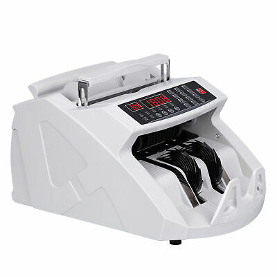Money Bill Counter Counting Machine Counterfeit Detector UV & MG Cash Bank