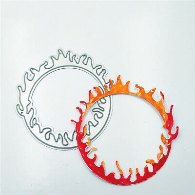 Flame Ring Shape Metal Cutting Dies Stencils for DIY Scrapbooking Album Cards_S