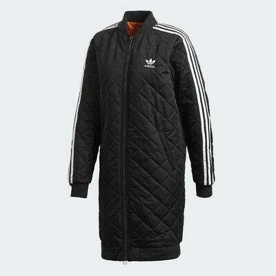 classic fit 815ff 7dc42 Adidas Originals Women's Long Bomber Coat Jacket Size Small (UK 10) RRP £140
