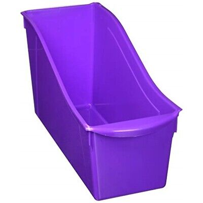 "Storex Large Book Bin 14.3""x5.3""x7""-purple"