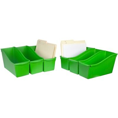 "Storex Large Book Bin 14.3""x5.3""x7""-green"