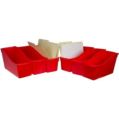 "Storex Large Book Bin 14.3""x5.3""x7""-red"