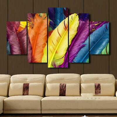 Colorful Feathers Canvas Wall Art Decor of Creative and Modern Art