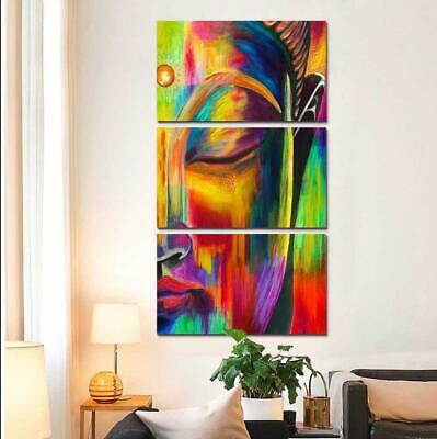 Colorful Buddha Canvas Art Print for Wall Decor Painting