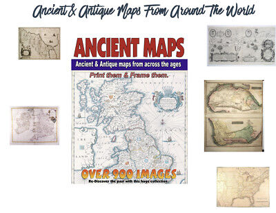 900 Rare Cartography Ancient Maps From Around The World PLUS SPECIAL BONUS