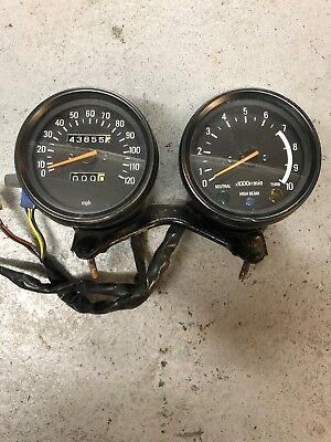 Yamaha SR 500 Clocks Speedo Speedometer & Tachometer Rev Counter & Bracket XT ?