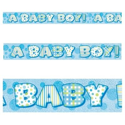 A BABY BOY PRISM BANNER, Blue, Baby Shower, Boys, Party Decorations, 10875