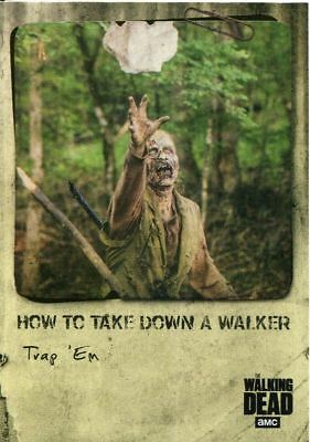 Walking Dead Hunters & Hunted Take Down Chase Card HT-7 Trap 'Em