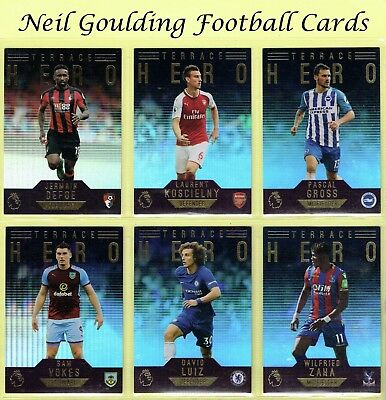 Topps PREMIER GOLD 2017-2018 ☆ TERRACE HERO ☆ Football Cards #151 to #170