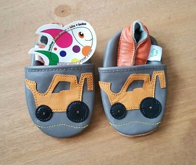 Dotty Fish Soft Leather Moccasins Yellow Digger Pre Walker Baby Shoes UK 6mths