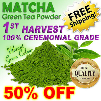 MATCHA GREEN TEA POWDER 30g ~ 100% CEREMONIAL GRADE! ~ 1ST HARVEST BEST OF JAPAN