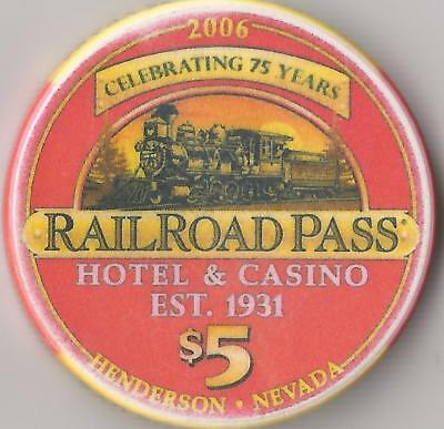 Railroad Pass 75 Years  Henderson   $5  Limited Edition Casino Chip