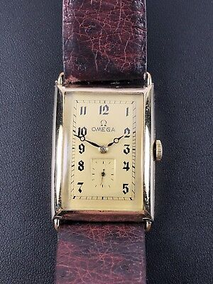 Art Deco OMEGA Watch Co Swiss Curvex cal.26,5 SOB Herrenuhr 39 x 26,6 ca.1930's