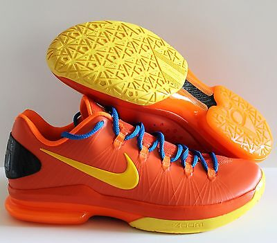 the best attitude f0707 53d1d Nike Men Kd V Elite Kevin Durant Team Orange-Tour Yellow Sz 10  585386