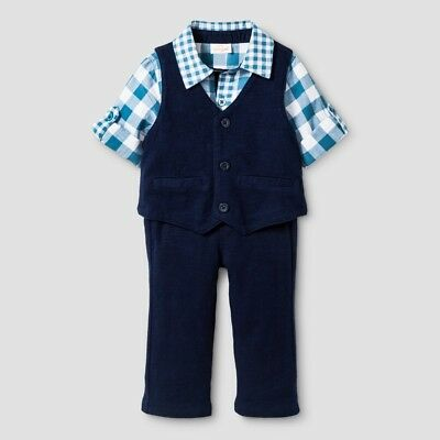 a32460d8ff1d CAT   JACK Baby Boys 12 Months 3 Pieces Shirt Vest Pant Set NEW ...