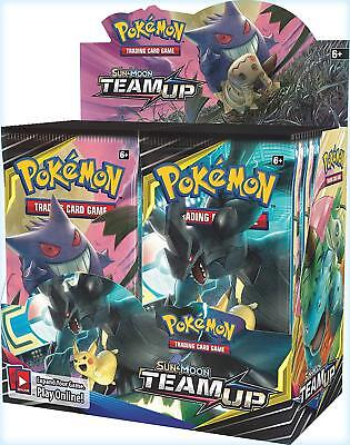 Pokemon TCG. SUN&MOON. TEAM UP 1/4 Booster Box. Low Shipping $