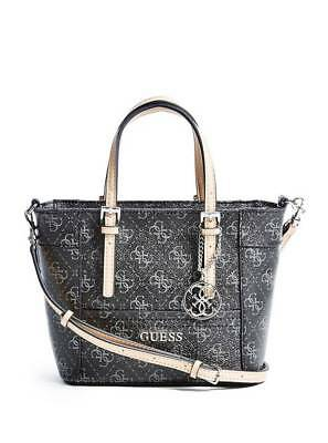ecc34c6e7db NWT GUESS DELANEY Crossbody mini Tote purse Handbag Geo print Multi ...