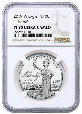 2019 W 1 oz Platinum American Eagle Liberty Proof $100 NGC PF70 UC SKU56859