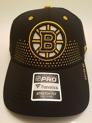 uk availability d4f34 99911 ... authentic 2018 boston bruins cap 2018 official nhl draft stretch fit  fitted hat l xl new