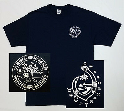 US Coast Guard USCG T-Shirt Mens LARGE Blue - SECTOR GUAM Pacific Region - NEW